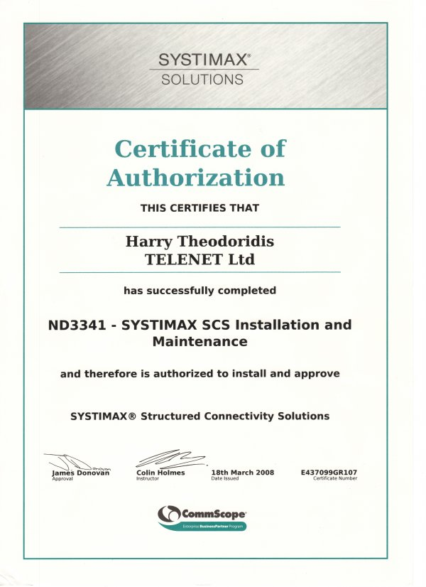 systimax_certificate_1